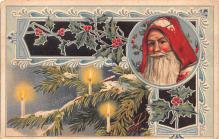 hol018075 - Santa Claus Christmas Old Vintage Antique Postcard