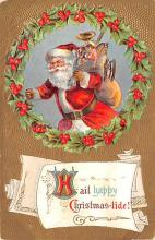 hol018079 - Santa Claus Christmas Old Vintage Antique Postcard