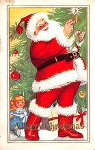 hol018087 - Santa Claus Christmas Old Vintage Antique Postcard