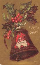 hol018091 - Santa Claus Christmas Old Vintage Antique Postcard