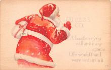 hol018095 - Santa Claus Christmas Old Vintage Antique Postcard