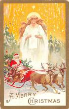 hol018099 - Santa Claus Christmas Old Vintage Antique Postcard