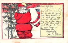 hol018107 - Santa Claus Christmas Old Vintage Antique Postcard