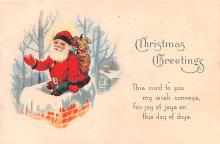 hol018127 - Santa Claus Christmas Old Vintage Antique Postcard