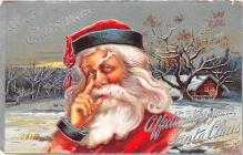 hol018133 - Santa Claus Christmas Old Vintage Antique Postcard