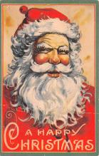 hol018135 - Santa Claus Christmas Old Vintage Antique Postcard