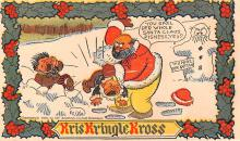hol018137 - Santa Claus Christmas Old Vintage Antique Postcard