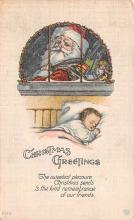 hol018139 - Santa Claus Christmas Old Vintage Antique Postcard