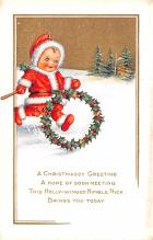 hol018141 - Santa Claus Christmas Old Vintage Antique Postcard
