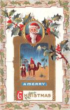 hol018149 - Santa Claus Christmas Old Vintage Antique Postcard