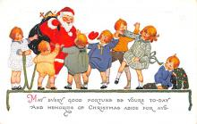 hol018157 - Santa Claus Christmas Old Vintage Antique Postcard