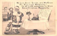 hol018161 - Santa Claus Christmas Old Vintage Antique Postcard