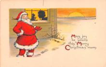 hol018163 - Santa Claus Christmas Old Vintage Antique Postcard