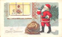 hol018165 - Santa Claus Christmas Old Vintage Antique Postcard