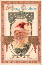 hol018169 - Santa Claus Christmas Old Vintage Antique Postcard