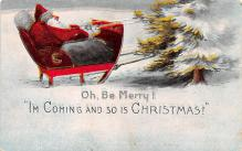 hol018177 - Santa Claus Christmas Old Vintage Antique Postcard
