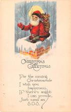 hol018179 - Santa Claus Christmas Old Vintage Antique Postcard