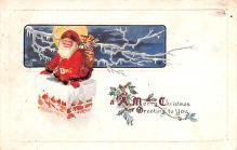hol018181 - Santa Claus Christmas Old Vintage Antique Postcard
