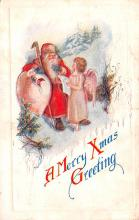hol018189 - Santa Claus Christmas Old Vintage Antique Postcard
