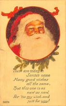 hol018191 - Santa Claus Christmas Old Vintage Antique Postcard