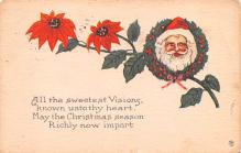 hol018195 - Santa Claus Christmas Old Vintage Antique Postcard
