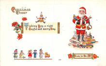 hol018197 - Santa Claus Christmas Old Vintage Antique Postcard