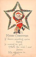 hol018201 - Santa Claus Christmas Old Vintage Antique Postcard