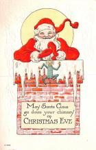 hol018205 - Santa Claus Christmas Old Vintage Antique Postcard