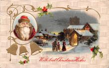 hol018209 - Santa Claus Christmas Old Vintage Antique Postcard