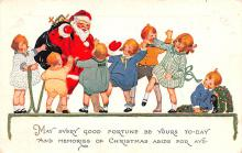 hol018215 - Santa Claus Christmas Old Vintage Antique Postcard