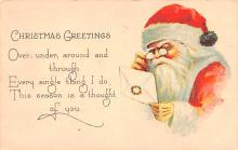 hol018217 - Santa Claus Christmas Old Vintage Antique Postcard