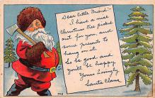hol018219 - Santa Claus Christmas Old Vintage Antique Postcard