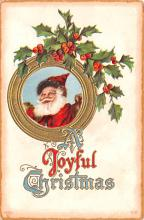 hol018223 - Santa Claus Christmas Old Vintage Antique Postcard