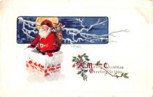hol018233 - Santa Claus Christmas Old Vintage Antique Postcard