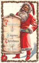 hol018235 - Santa Claus Christmas Old Vintage Antique Postcard
