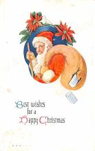 hol018237 - Santa Claus Christmas Old Vintage Antique Postcard
