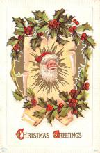 hol018241 - Santa Claus Christmas Old Vintage Antique Postcard