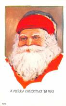 hol018243 - Santa Claus Christmas Old Vintage Antique Postcard