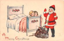 hol018245 - Santa Claus Christmas Old Vintage Antique Postcard