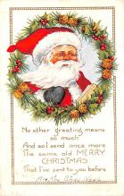hol018255 - Santa Claus Christmas Old Vintage Antique Postcard