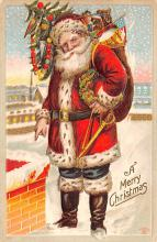 hol018259 - Santa Claus Christmas Old Vintage Antique Postcard