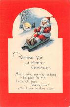 hol018261 - Santa Claus Christmas Old Vintage Antique Postcard