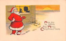 hol018263 - Santa Claus Christmas Old Vintage Antique Postcard