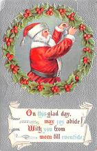 hol018273 - Santa Claus Christmas Old Vintage Antique Postcard