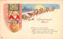 hol018277 - Santa Claus Christmas Old Vintage Antique Postcard
