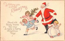hol018279 - Santa Claus Christmas Old Vintage Antique Postcard