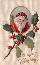 hol018283 - Santa Claus Christmas Old Vintage Antique Postcard