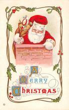 hol018287 - Santa Claus Christmas Old Vintage Antique Postcard