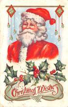 hol018295 - Santa Claus Christmas Old Vintage Antique Postcard