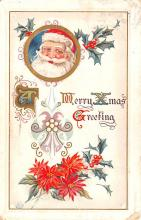 hol018299 - Santa Claus Christmas Old Vintage Antique Postcard